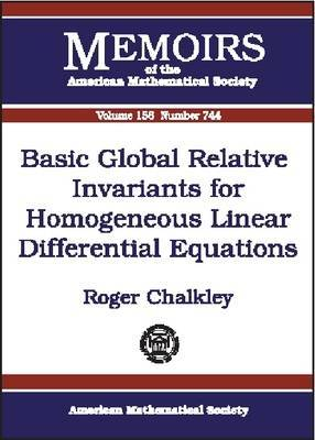 Basic Global Relative Invariants for Homogeneous Linear Differential Equations