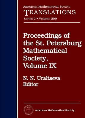 Proceedings of the St. Petersburg Mathematical Society: v. 9
