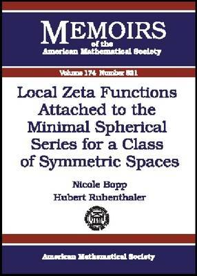 Local Zeta Functions Attached to the Minimal Spherical Series for a Class of Symmetric Spaces