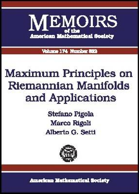 Maximum Principles on Riemannian Manifolds and Applications