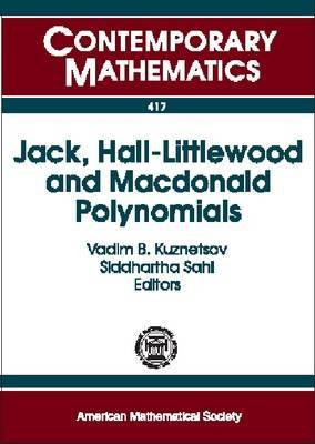 Jack, Hall-Littlewood and Macdonald Polynomials