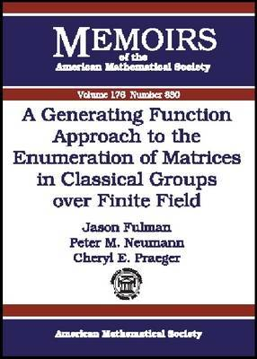 A Generating Function Approach to the Enumeration of Matrices in Classical Groups Over Finite Fields