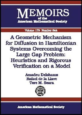 A Geometric Mechanism for Diffusion in Hamiltonian Systems Overcoming the Large Gap Problem: Heuristics and Rigorous Verification on a Model