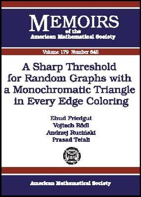 A Sharp Threshold for Random Graphs with a Monochromatic Triangle in Every Edge Coloring