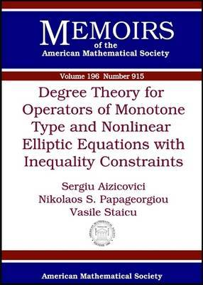 Degree Theory for Operators of Monotone Type and Nonlinear Elliptic Equations with Inequality Constraints