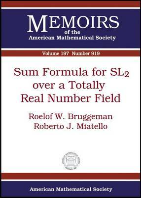 Sum Formula for SL2 Over a Totally Real Number Field