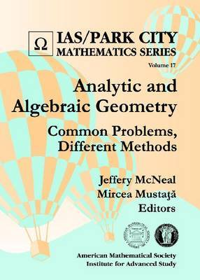 Analytic and Algebraic Geometry: Common Problems, Different Methods