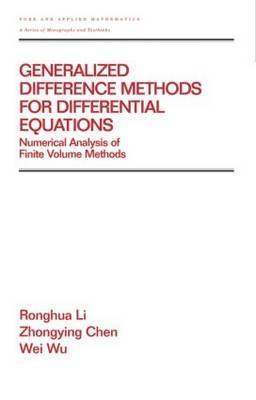 Generalized Difference Methods for Differential Equations: Numerical Analysis of Finite Volume Methods