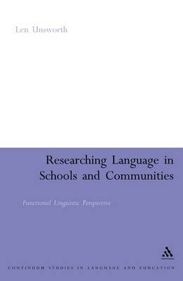 Researching Language in Schools and Communities: Functional Linguistic Perspective