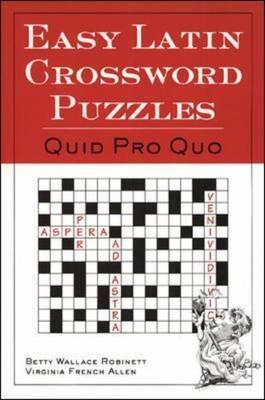 Easy Latin Crossword Puzzles: Quid Pro Quo
