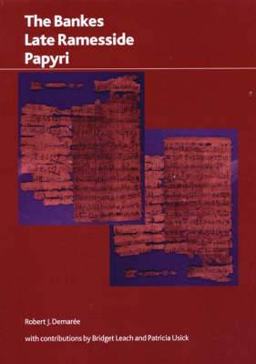 The Bankes' Late Rammesside Papyri