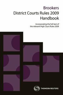 Brookers District Courts Rules 2009 Handbook