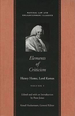 Elements of Criticism: v.1