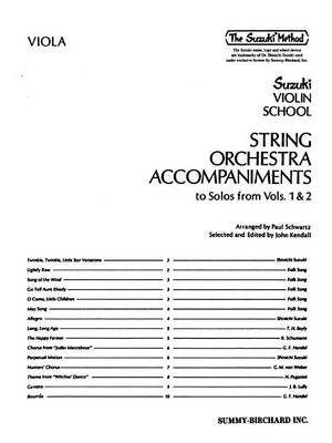String Orchestra Accompaniments to Solos from Volumes 1 & 2  : Viola