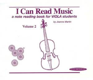 I Can Read Music, Volume 2: A Note Reading Book for Viola Students