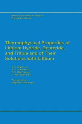 Thermophysical Properties of Lithium Hydride, Deuteride and Tritide