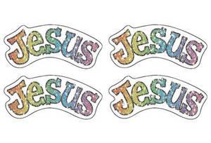 Jesus Dazzle(tm) Stickers