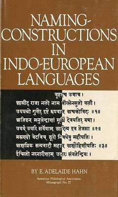 Naming-Constructions in Some Indo-European Languages