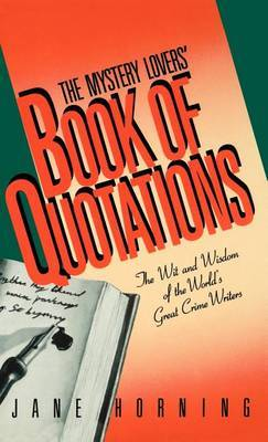 The Mystery Lovers' Book of Quotations