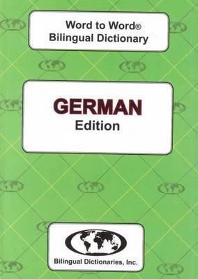 English-German & German-English Word-to-Word Dictionary: Suitable for Exams