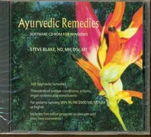 Ayurvedic Remedies Software CD Rom for Windows