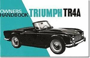 Triumph TR4A Owners Handbook