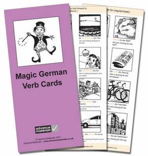 Magic German Verb Cards Flashcards (8): Speak German more fluently!