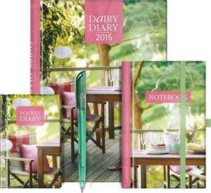 Dairy Diary Set 2015: A5 Week-to-View Home & Kitchen Diary Plus Pocket Diary, Pen and Notebook
