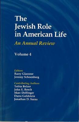 THE JEWISH ROLE IN AMERICAN LIFE, VOL 4