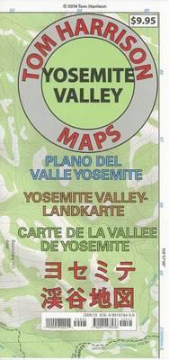 Yosemite Valley Map: Plano del Valle Yosemite- Yosemite Valley-Landkarte- Carte de La Vallee de Yosemite