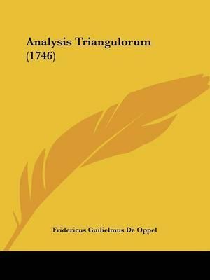 Analysis Triangulorum (1746)