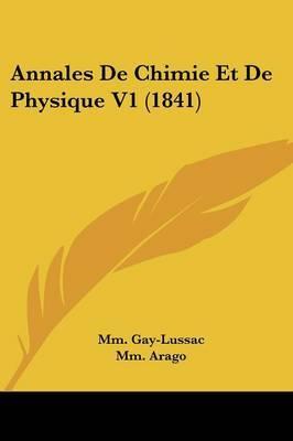 Annales De Chimie Et De Physique V1 (1841)