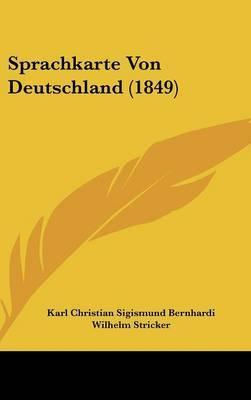 Sprachkarte Von Deutschland (1849)