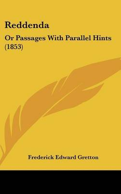 Reddenda: Or Passages With Parallel Hints (1853)