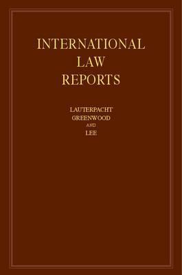 International Law Reports: Volume 158