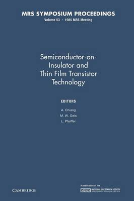 Semiconductor-on-Insulator and Thin Film Transistor Technology: Volume 53