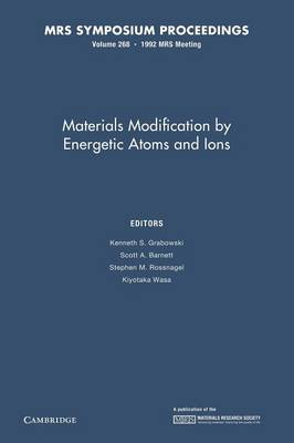 Materials Modification by Energetic Atoms and Ions: Volume 268
