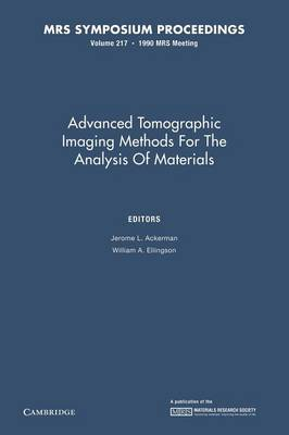 Advanced Tomographic Imaging Methods for the Analysis of Materials: Volume 217