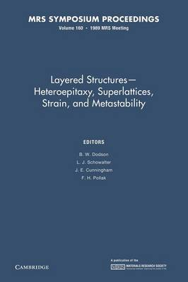 Layered Structures - Heteroepitaxy, Superlattices, Strain, and Metastability: Volume 160