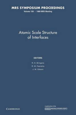 Atomic Scale Structure of Interfaces: Volume 159