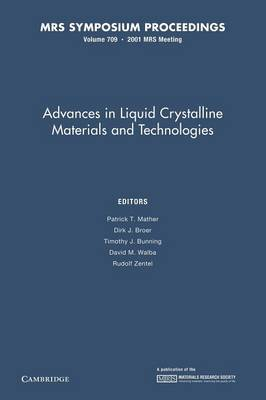 Advances in Liquid Crystalline Materials and Technologies: Volume 709