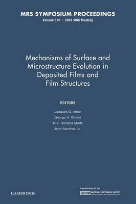 Mechanisms of Surface and Microstructure Evolution in Deposited Films and Film Structures: Volume 672