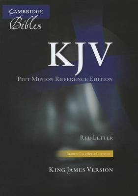 KJV Pitt Minion Reference Edition KJ444: XR Brown Calf Split Leather