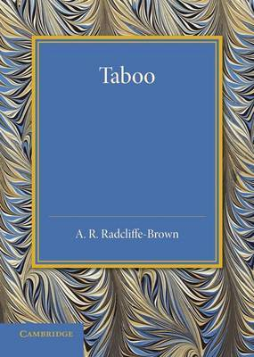 Taboo: The Frazer Lecture 1939