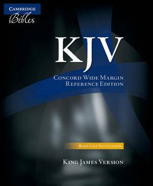 KJV Concord Wide Margin Reference Bible, Black Calfsplit Leather KJ764:XM