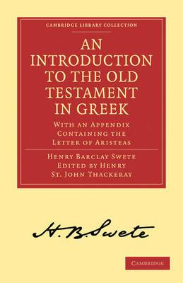 An Introduction to the Old Testament in Greek: With an Appendix Containing the Letter of Aristeas