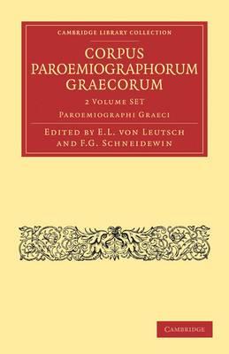Corpus Paroemiographorum Graecorum 2 Volume Paperback Set