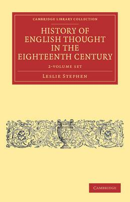 History of English Thought in the Eighteenth Century 2 Volume Set