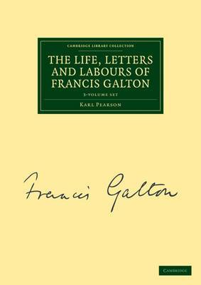 The Life, Letters and Labours of Francis Galton 3 Volume Set in 4 Pieces