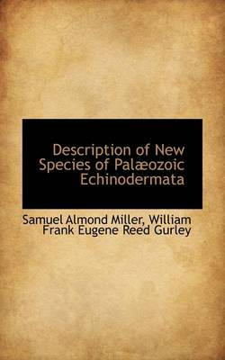 Description of New Species of Pal Ozoic Echinodermata